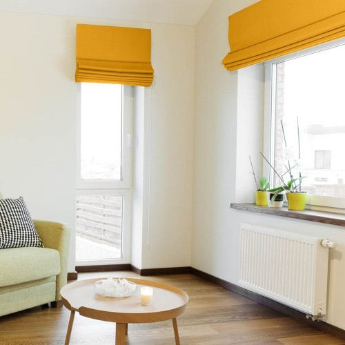 Roman Blind Mustard Yellow