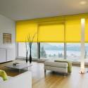 Cortina Enrollable Lavable Amarillo Sol