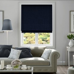 Roman Blind Dark Blue