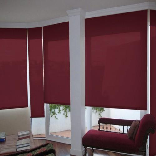 Cortina Enrollable Lavable Rojo Oscuro